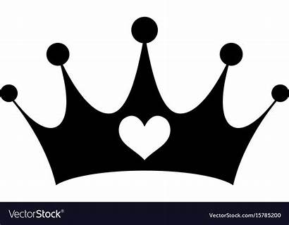 Crown Heart Princess Vector Girly Pink Royalty