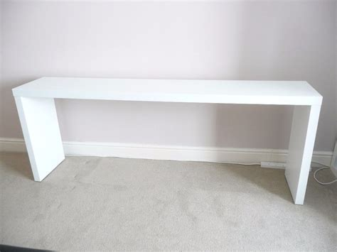 Ikea White Malm Console Table, Sideboard (can Fit Over A