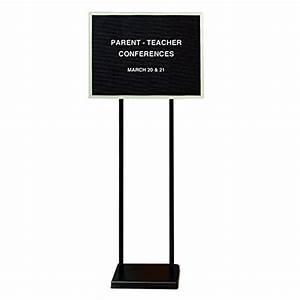 ghent 18quot x 24quot double pedestal open face black letter With letter board set
