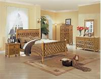 bamboo bedroom set Tahiti all Natural Wicker and Rattan Bedroom 4 Pc. Set ...