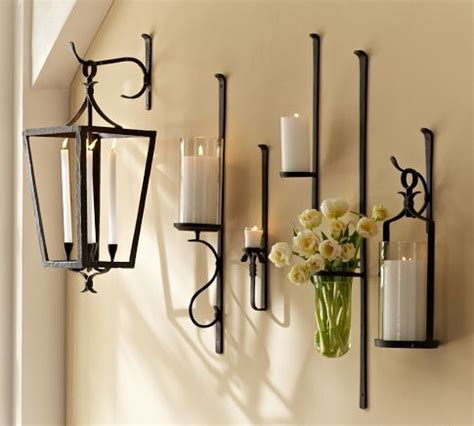artisanal wall mount candle holders pottery barn light