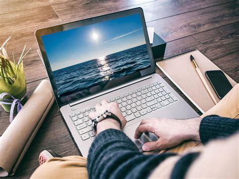 Man Using Laptop Mockup