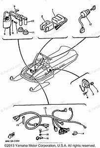 Yamaha Snowmobile 1984 Oem Parts Diagram For Electrical