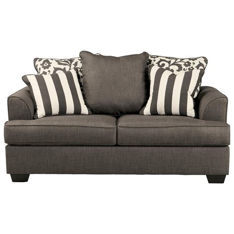 Levon Charcoal Sofa And Loveseat by Signature Design Levon Charcoal Loveseat With