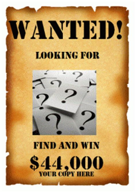 wanted poster templates printable docs word