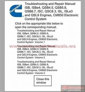 Cummins Cm850 Troubleshooting And Repair Manual