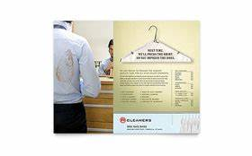 laundry flyers templates - laundry dry cleaners brochure template design