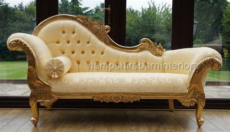 Ornate Medium French Style Medium Chaise Longue Gold Free