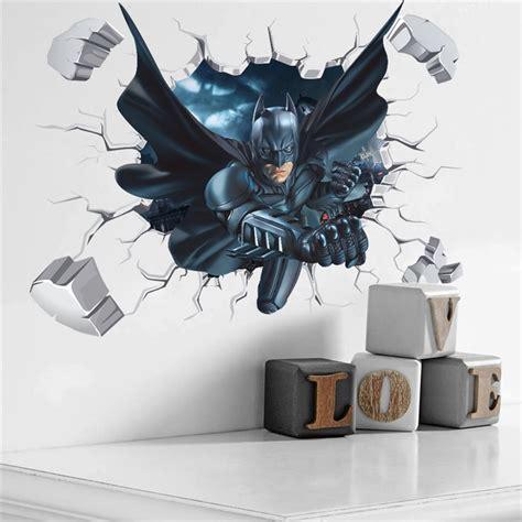 batman spiderman  effect wall sticker home decor