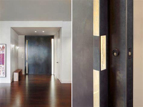 porche d entree moderne porte d entr 233 e moderne pour habiller la grande hauteur sous plafond