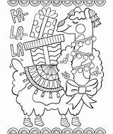 Llama Coloring Fa Pages Printable Getcolorings sketch template