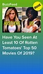 How Many Of Rotten Tomatoes' Top 50 Movies Of 2019 Have ...