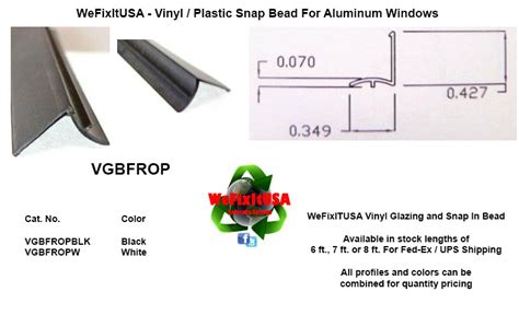 glazing bead  aluminum vinyl wood windows doors vgbfrop biltbest window parts