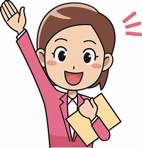 Clipart - Enthused Female Office Worker