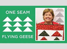 One Seam Flying Geese YouTube