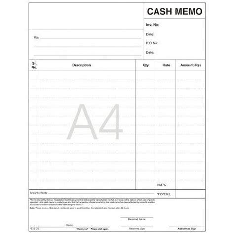 image result  cash memo memo format memo memo template