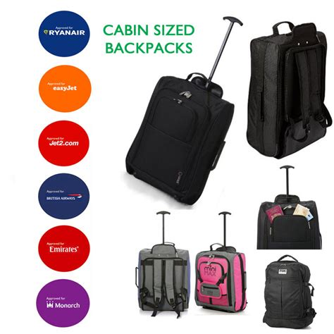 easyjet cabin baggage sizes luggage backpacks bags trolley wheeled cabin baggage