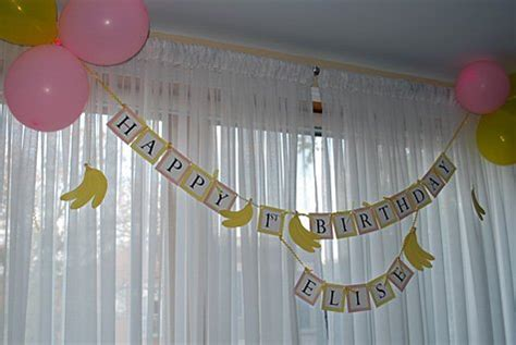 happy st birthday banner  printable hanging sign