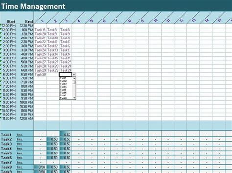 Time Management Diary Template 30tasks time tracker excel template activity diary