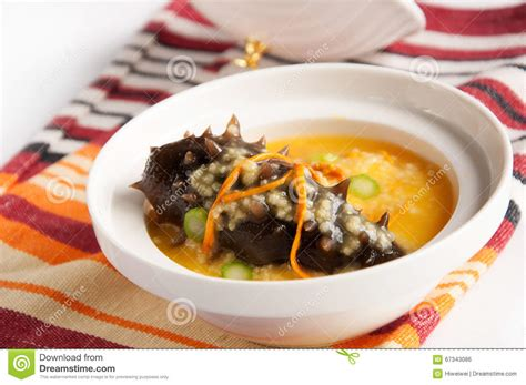 millet cuisine millet with sea cucumber stock photo image 67343086