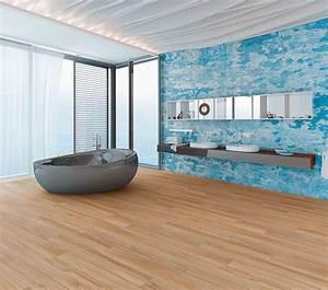 Laminat Fürs Bad : laminatboden macht mittlerweile auch im bad eine gute figur er zeichnet sich durch ~ Watch28wear.com Haus und Dekorationen