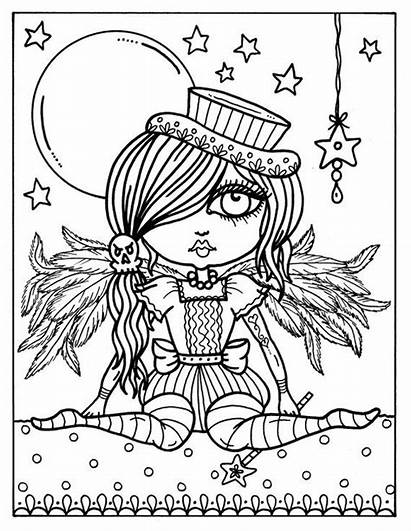Coloring Pages Gothic Angel Adult Angels Clip