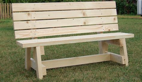simple garden bench seat project metric version