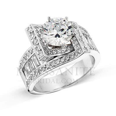designer statement moissanite diamond engagement ring