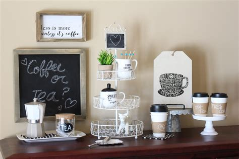 Joy measures approx 2.75 inches x 1.5 inches. How to Create a Coffee and Tea Station | Yesterday On Tuesday