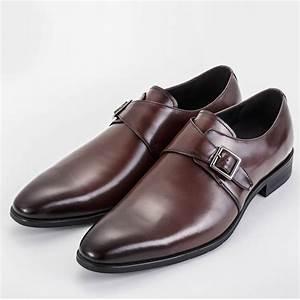 Single Monk Strap Brown Shoes