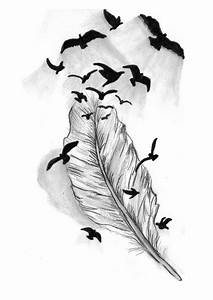Floating Feather Drawing | www.imgkid.com - The Image Kid ...