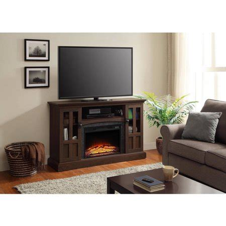 whalen fireplace tv stand whalen media fireplace console for tvs up to 60 quot brown