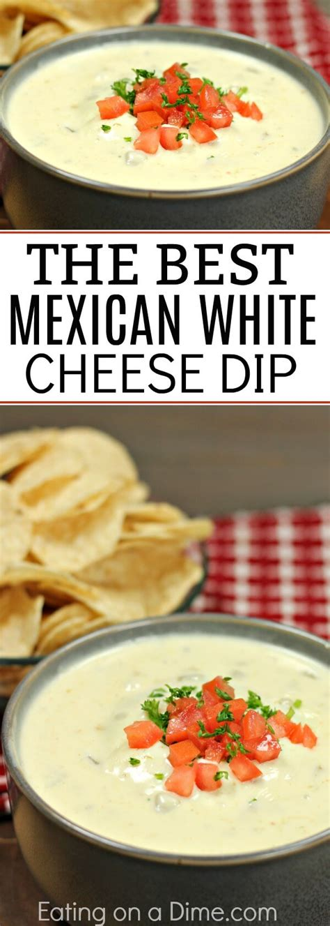 mexican white cheese dip authentic queso dip recipe