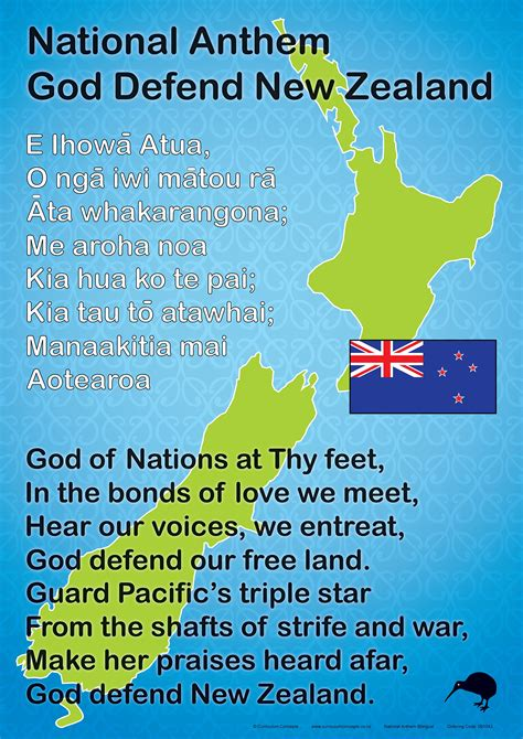 Nz National Anthem  Te Reo Maori Resources