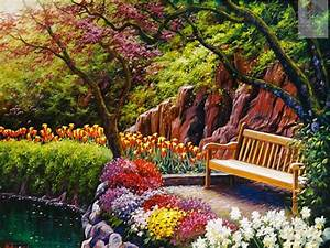 Online Buy Wholesale garden scenes paintings from China