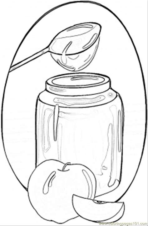 honey  apples coloring page  ukraine coloring pages coloringpagescom