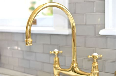 Unlacquered Brass Bridge Faucet by Bathroom Faucetry Immerse St Louis