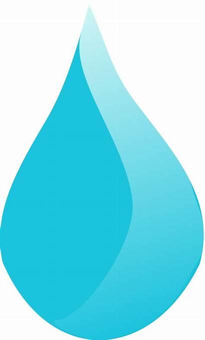 Drop Water Vector Cartoon Clipart Teardrop Rain