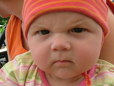 Angry Baby Look
