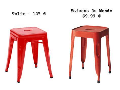 chaise industrielle maison du monde le même en moins cher un tabouret indus