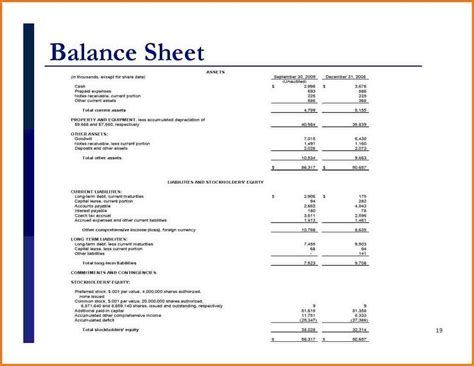 Excel Templates For Accounting Simple Balance Sheet Exle Authorization Letter Pdf