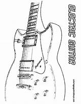 Guitar Electric Musical Coloring Instrument Classic Pages Instruments Yescoloring Gritty sketch template