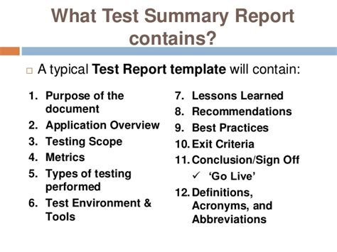 software testing report