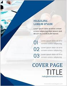 Cover Page Of Report Template In Word Annual Report Cover Pages Ms Word Ms Word Cover Page