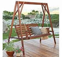 free standing swing Free Standing Wood Porch Swings - WoodWorking Projects & Plans