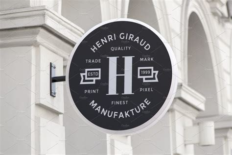 mount  sign logo mock  branding mockups