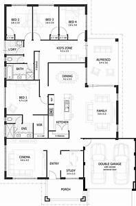 Simple House Diagram Elegant 4 Bedroom House Plans  U0026 Home