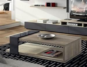 Table Basse Chene Gris : table basse contemporaine chene gris ~ Teatrodelosmanantiales.com Idées de Décoration