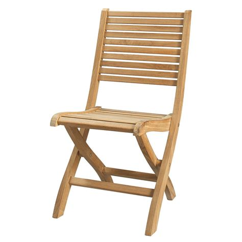 solid teak folding garden chair ol 233 maisons du monde