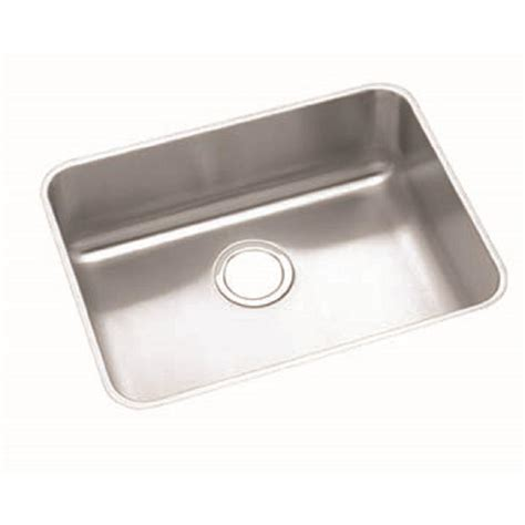 elkay kitchen sinks undermount elkay lustertone undermount stainless steel 24 in single 7049